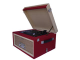 Red 3 Speed Portable Turntable with Matching Stand CTA99