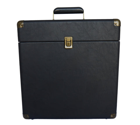 Retro Record Classic Leather Carrying Case for Albums IEP40 BK