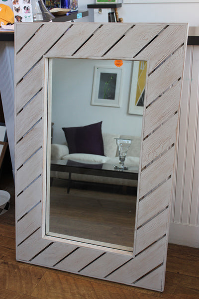 Light Wood Modern Mirror