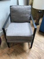 Grey and black chair