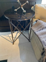 Marble top brass base table
