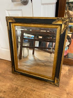 Black and gold mirror beveled