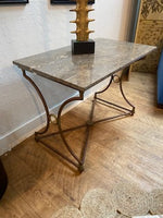 marble top and brass entrance table