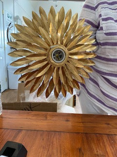Pair of sunflower sconces New