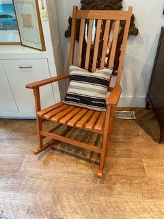 Slated rocking chair