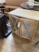Bedside table with mirrored panels (mecox)