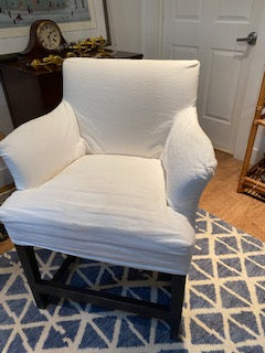 Pair of white arm chairs
