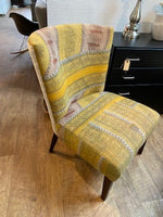 Yellow fabric chair