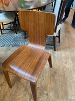 Set of 4 wood modern chairs