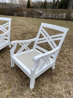 Glouster white lacquer chairs