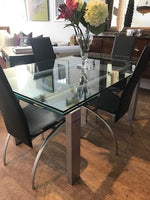 Glass table with pull out extensions   1/10/20