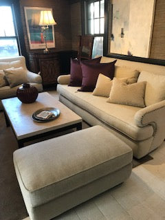 Set of Nailhead Couch, Chair, and Ottoman 02/03/20( NEW)