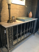 Iron Base Console with Marble Top