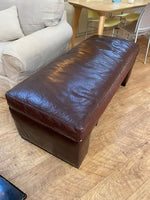 Ostrich leather bench