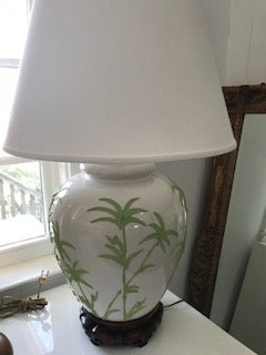 Pair of Green and white Lamps