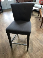 Set of four grey counter stools