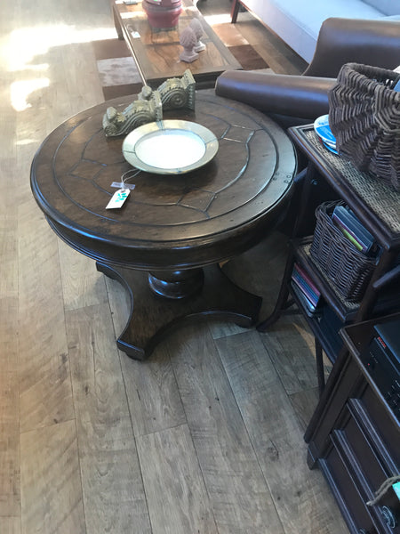 Dark wood side table 11/4