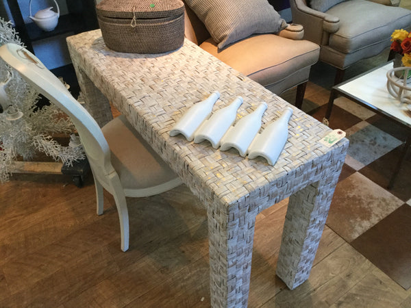 Woven side table 7/21