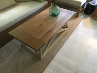Two tone wood coffee table 7/14