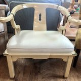 White lacquer horseshoe chair 4/24