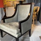 Pair of Leather Side Chairs 5/4