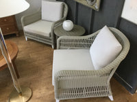 Grey woven chair 7/14