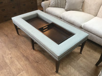 Fabric studded coffee table 2/18