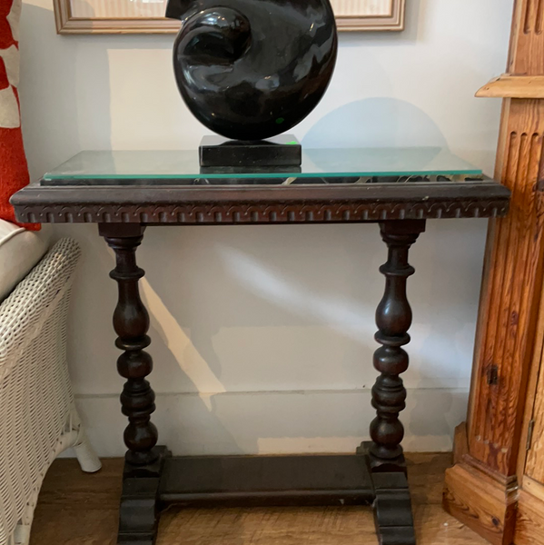 Wood and Marble Occasional Table 5/4