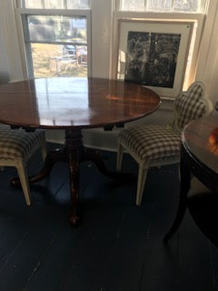 Round wood pedestal table 1/17   (with leaf)