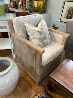 Wood white washed chair