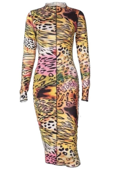 On the Prowl Printed Bodycon Dress