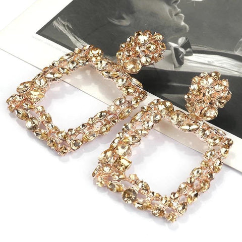 Gold Signature Vintage Crystal Earrings