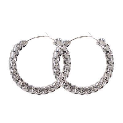 Chain Reaction Hoops - Silver