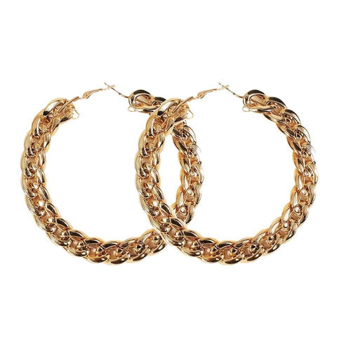 Chain Reaction Hoops - Gold