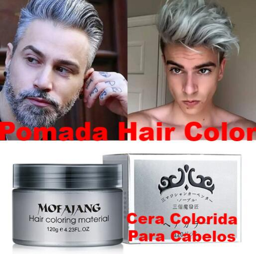 ff9242256 Pasta colorida para cabelo - Pomada Color Hair - Mofajang Hair Color ...
