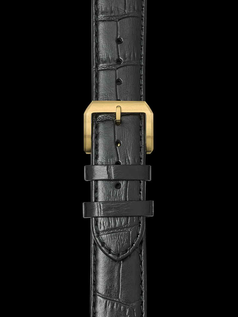 Leather Strap w. Yellow Gold Buckle