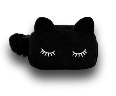 cool black cat cosmetic bag