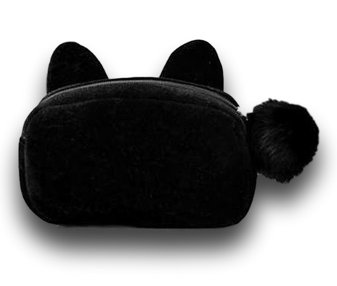 cool black kitty cat cosmetic bag