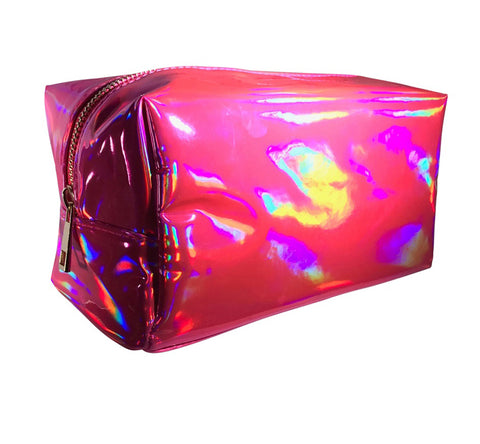 Pink Makeup Bags - Hot Pink Holographic