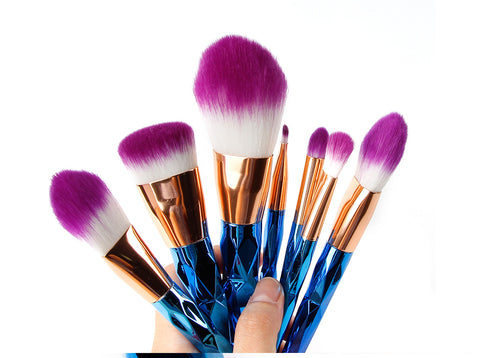 Mermaid Makeup Brush Set ~ 7 Pieces