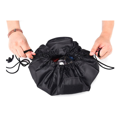 drawstring cosmetic makeup pouch
