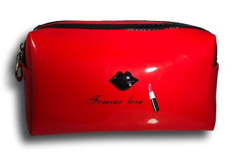 red patent leather bag