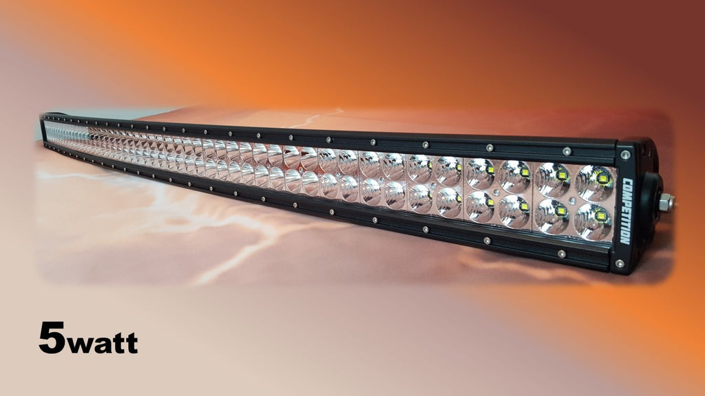 50 inch curved dual row 5 watt led light bar