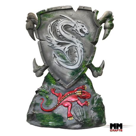 Dragon Shield 3D Fantasy Target and Base