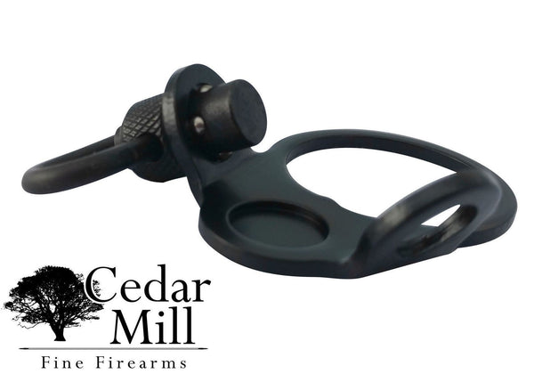 AR-15 Ambidextrous dual two loop Receiver End Plate with QD Swivel-AR-15 Sling Plate-Cedar Mill Fine Firearms-802405674417