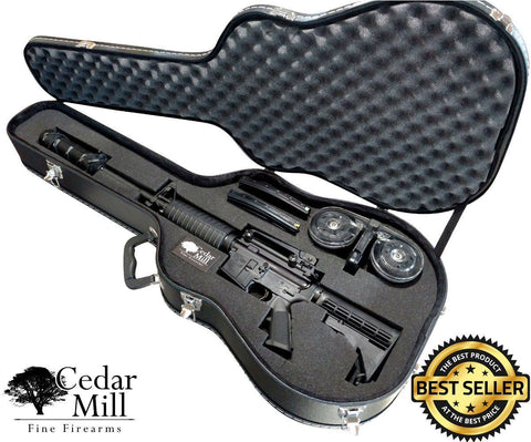 Discreet Concealment Guitar Rifle Case and Diversion Safe-Rifle Cases-Cedar Mill Fine Firearms-JC-WJ85-VY3Q-802405674578