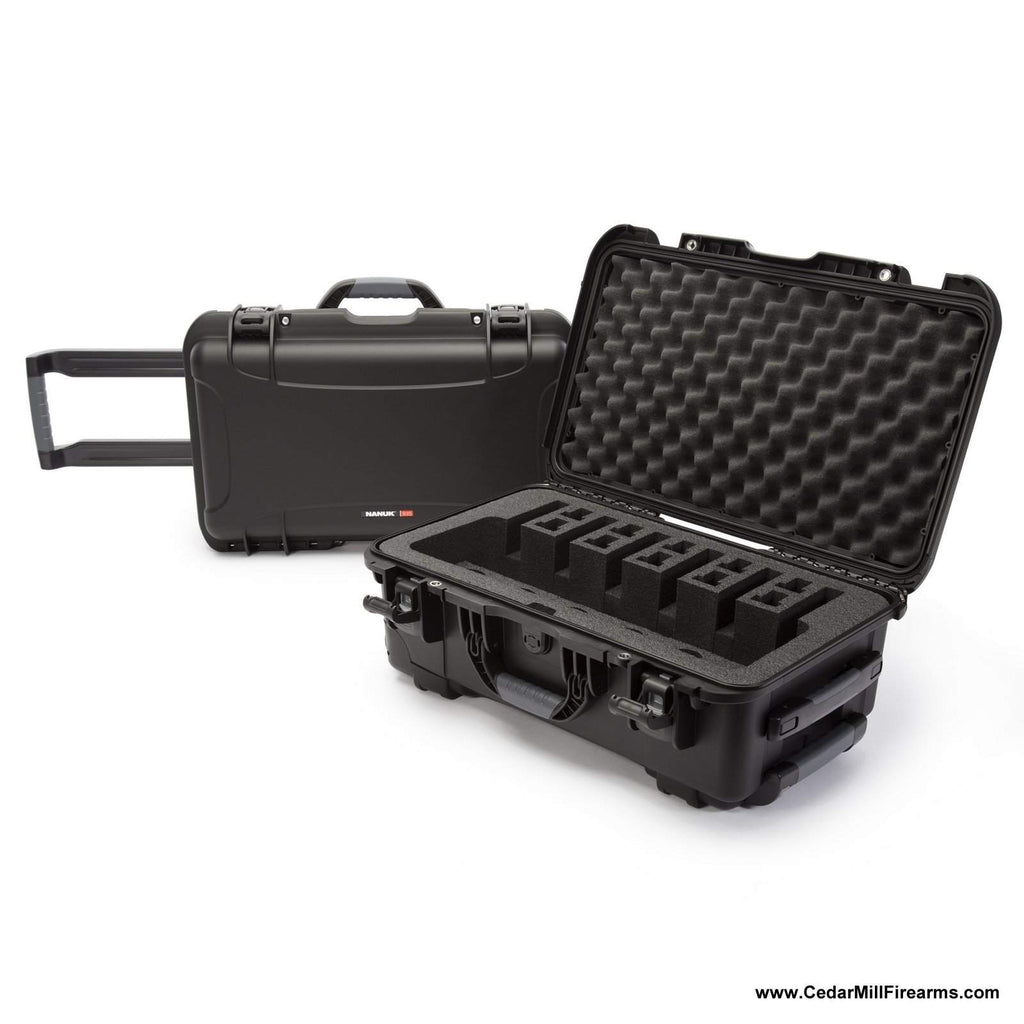 Nanuk 935 Waterproof TSA Safe case SIX Glock, 1911, SIG, Ruger, 6-UP-Pistol Cases-Nanuk-935-6UP1-