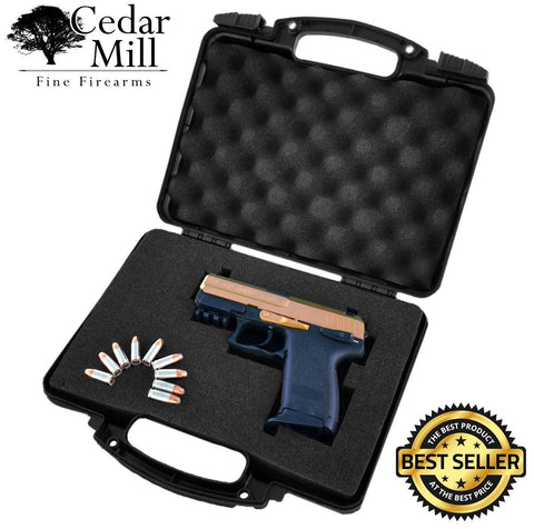 "Pick & Pluck Foam Hard Stackable Pistol Gun Case 12""x8""x3.5""-Pistol Cases-Cedar Mill Fine Firearms-XV-K4T1-GUV9-7429523225265"