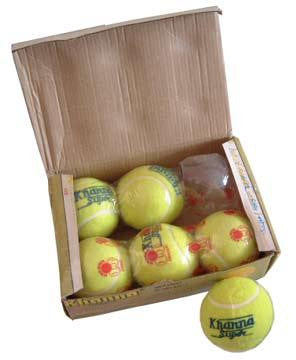Khanna Super Heavy Hard Tennis Balls 6 Pack