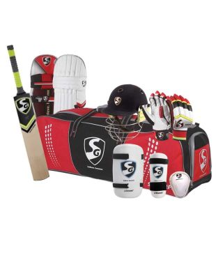 SG PREMIUM E-Willow Cricket Set/Complete Kit